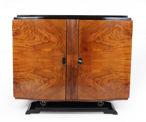 French Art Deco Cabinet in Walnut c 1920