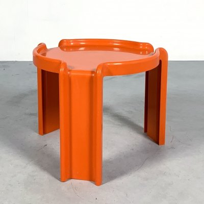 Orange Side Table by Giotto Stoppino for Kartell, 1970s