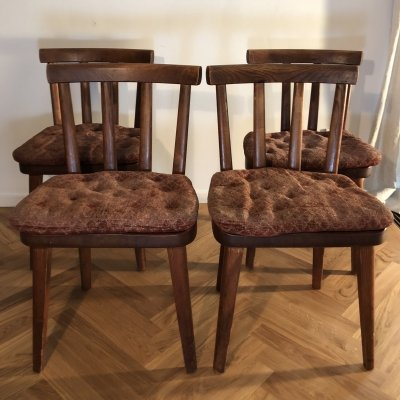 Set of 4 Utö chairs by Axel Einar Hjorth, 1930s