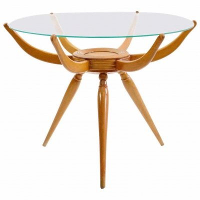 Round Tripod Coffee Table by Carlo de Carli, circa 1950
