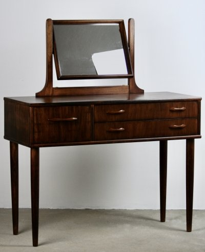 Mid-Century Scandinavian Teak Vanity Table, 1960s