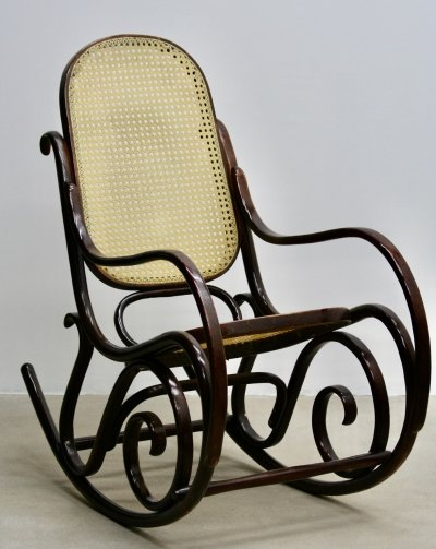 Vintage Thonet Plywood Rocking Chair, 1950s