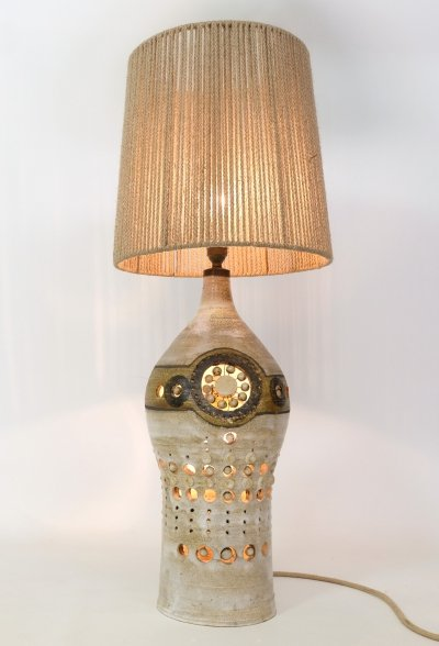 Large clay lamp by Georges Pelletier, 1960s-1970s