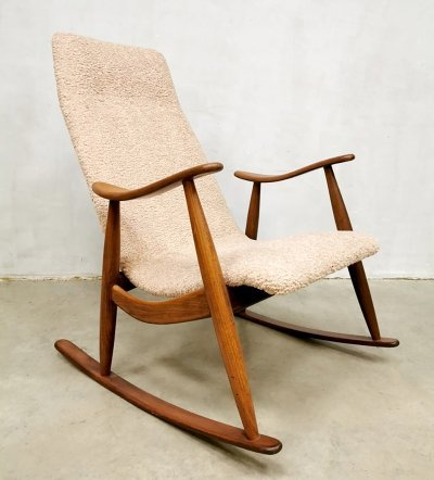 Dutch design vintage rocking chair by Louis van Teeffelen for Webe, 1960s