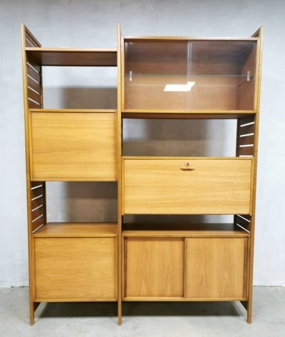 Midcentury ladderax modular wall unit by Robert Heal for Staples