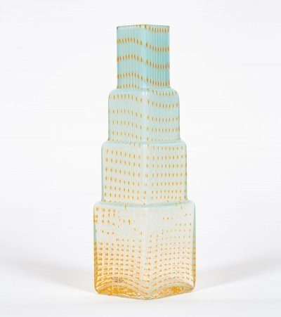 Skyscraper vase by Bertil Vallien for Kosta Boda