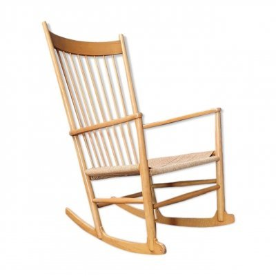 J16 beech rocking chair by Hans J. Wegner for Fredericia, 1970s