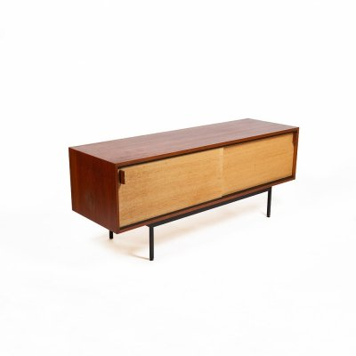 Minimalist sideboard by Dieter Waeckerlin with original (Japanese) paper, 1950s