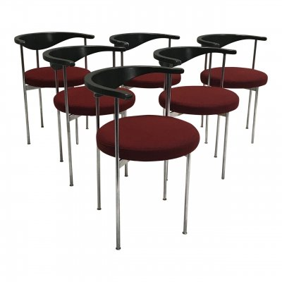 Set of 6 'Model 3200' dining chairs by Frederik Sieck for Fritz Hansen, 1960s