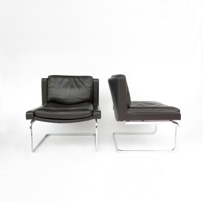 Pair of Leather chairs by Robert Haussmann for De Sede, 1970s