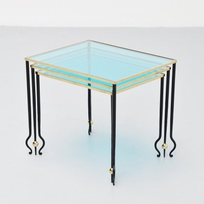 Rene Drouet nesting tables, France 1940