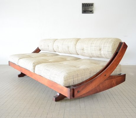 Midcentury Rosewood Sormani GS195 daybed by Gianni Songia, 1963