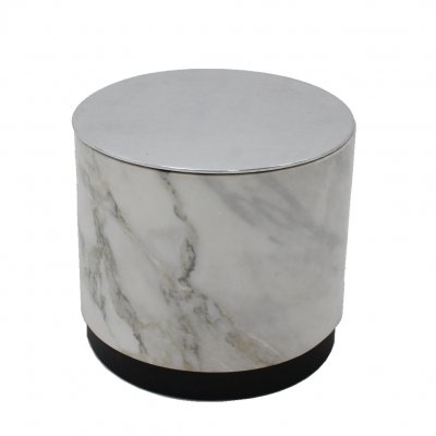 Vintage marble Container side table, Italy 1970s