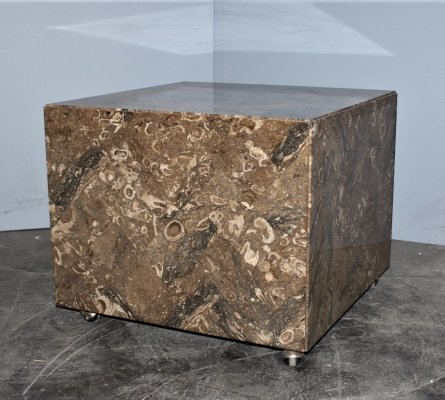 Italian Rasotica Marble Cube with wheels, Croatia 1970's