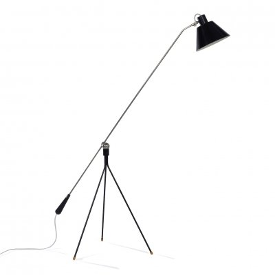 Rare 1st Edition Magneto Floor Lamp by H. Fillekes for Artiforte, 1950s
