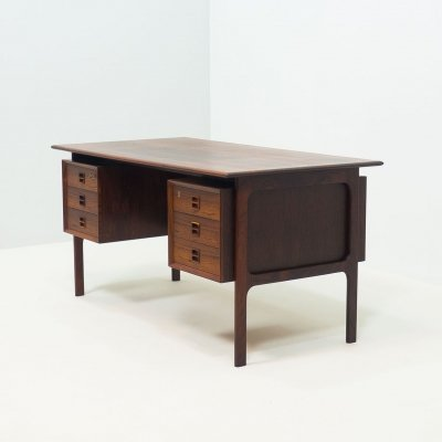 Free standing rosewood desk by Brouer Møbelfabrik, 1960s