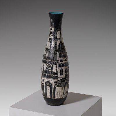 Large ceramic vase by Marcello Fantoni, Italy