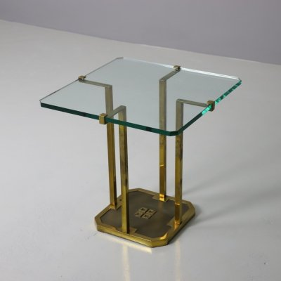 T18 side table in patinated brass by Peter Ghyczy, 1970s