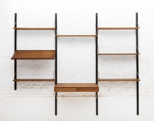 Wall unit in walnut by Poul Cadovius for Cado, Denmark 1960