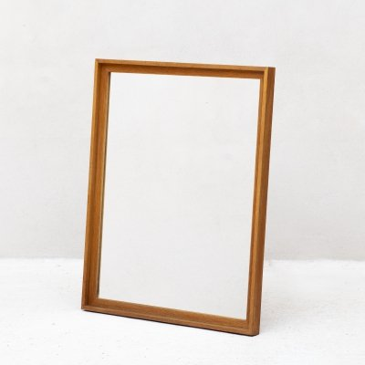XL mirror in solid oak, Denmark 1970s