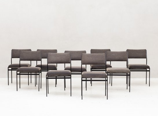 Set of 9 'SM07' dining chairs by Cees Braakman for Pastoe, Holland 1960