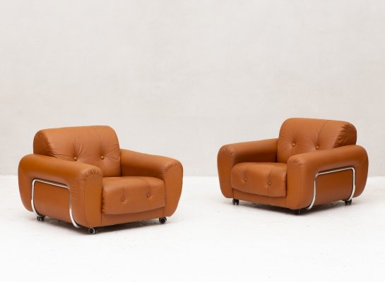 Pair of easy chairs, 1970s