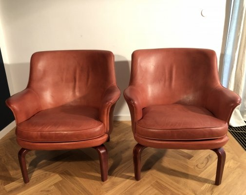 Pair of 'Pilot' armchairs designed by Arne Norell, 1967.