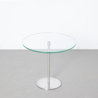 Round Glass Side Table by Metaform