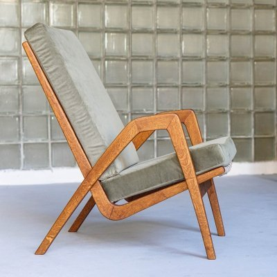 1960s armchair designed by Jan Vanek for Uluv