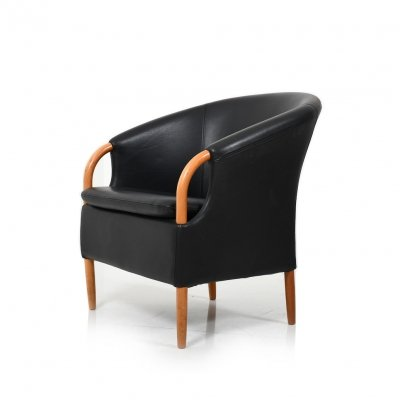 High Quality black Leather Easychair