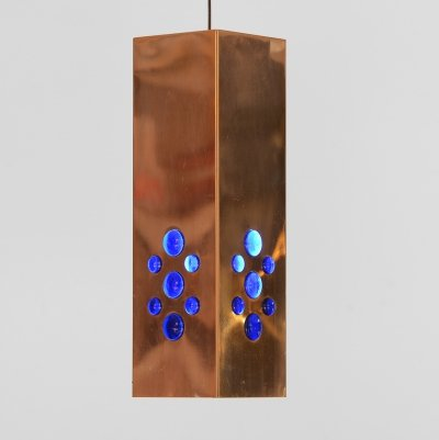 Copper pendant light by Hans-Agne Jakobsson for H-A Jakobsson AB, Markaryd