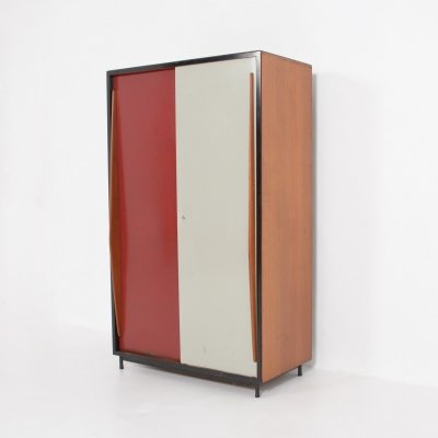 Large Wardrobe Cabinet by Willy Van Der Meeren for Tubax