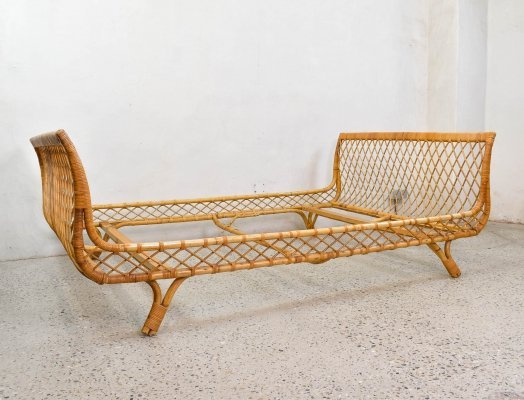 1960s Bamboo & Rattan Daybed