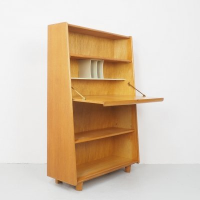 Dutch Model BE04 Secretaire with Bookcase by Cees Braakman for Pastoe, 1940s