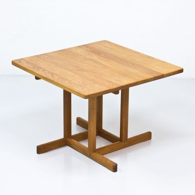 Solid Oak Dining Table by Børge Mogensen