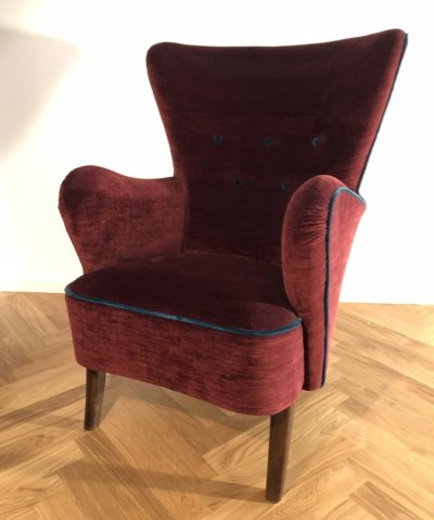 High-back arm chair, Denmark 1940s
