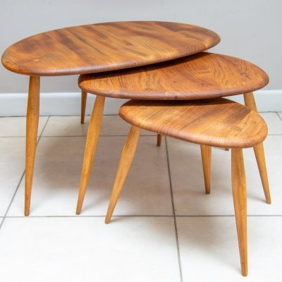 Ercol No. 354 Pebble Nest of Tables, English 1960s