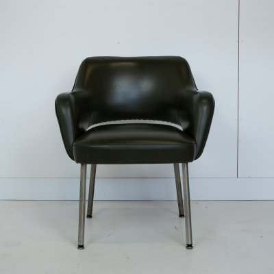 Italian leatherette armchair by Mobiltecnica Torino, 1980s
