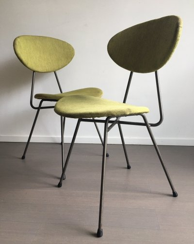 Pair of Staatsmijnen dining chairs by Rob Parry & Emile Truijen, 1950s