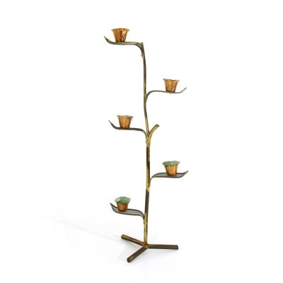 Plant holder in brass & copper, 1950s