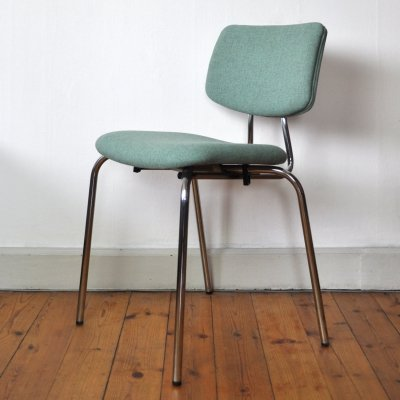 Danish Side Chair by Duba with chromed frame, 1970s