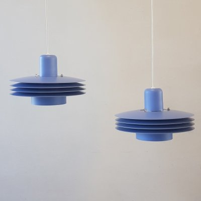 Set of 2 hanging lamps by ES Horn Denmark, 1980s
