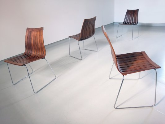 Tønnestav Dining chairs by Kjell Richardsen for Tynes Møbelfabrikk, Norway 1960