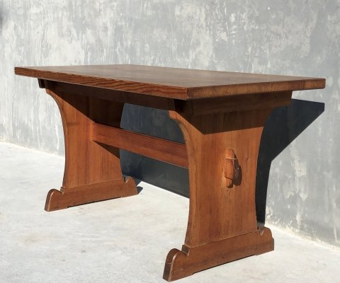 Lovö series dining table with additional extensions by Axel-Einar Hjorth, 1930's