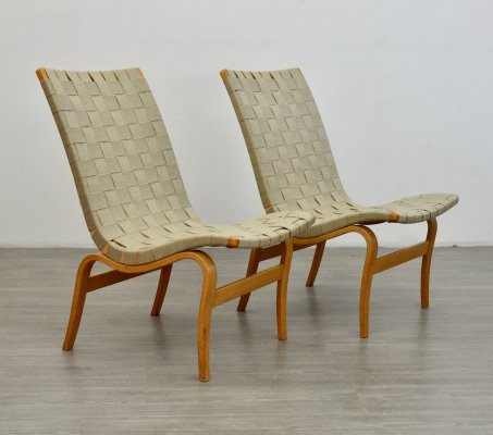 Pair of Eva chairs by Bruno Mathsson, 1970s