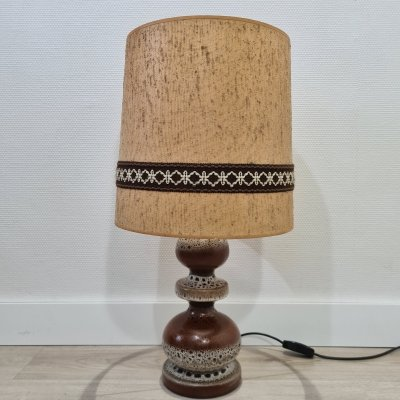 Mid-century ceramic fat lava table lamp, 1960s