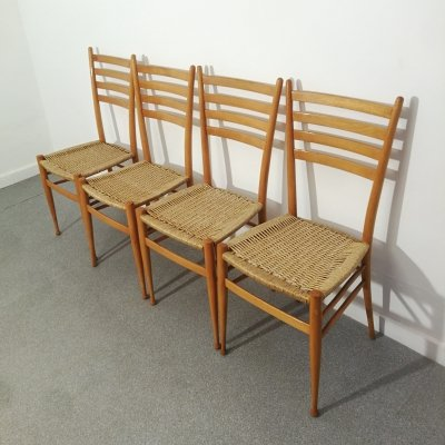 Set of 4 Dining chairs by Chiavari, 1950s