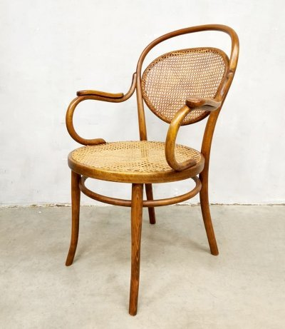 Vintage rare design bentwood armchair by Josef Hoffmann for Thonet