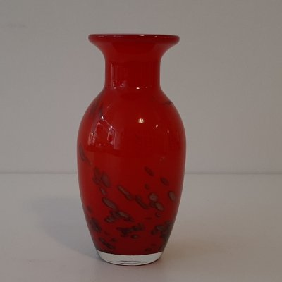 Bohemia Glass (Red/Gold) vases made in Czechoslovakia