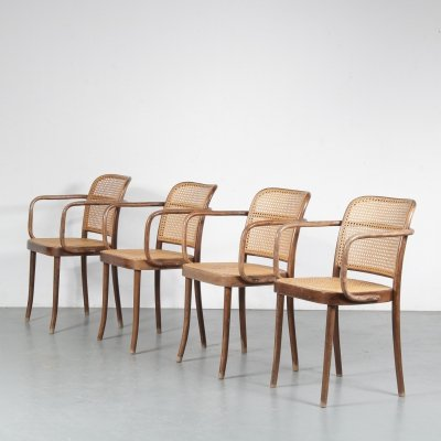 Set of 4 dining chairs by Josef Hoffmann for FMG, 1950s